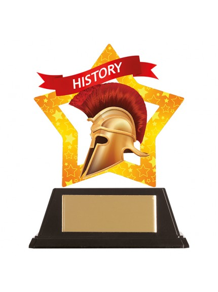 Mini-Star History Acrylic Plaque 100mm