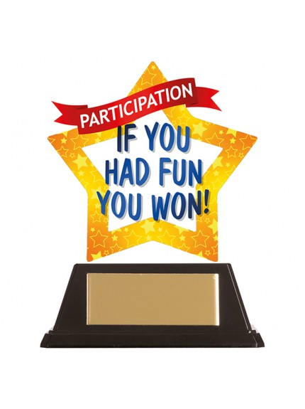 Mini-Star Participation Acrylic Plaque 100mm