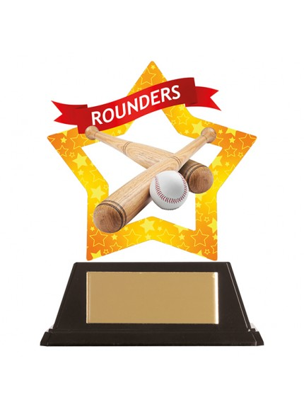 Mini-Star Rounders Acrylic Plaque 100mm