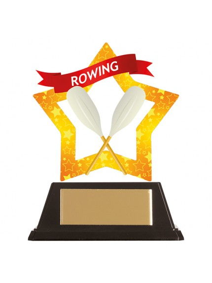 Mini-Star Rowing Acrylic Plaque 100mm