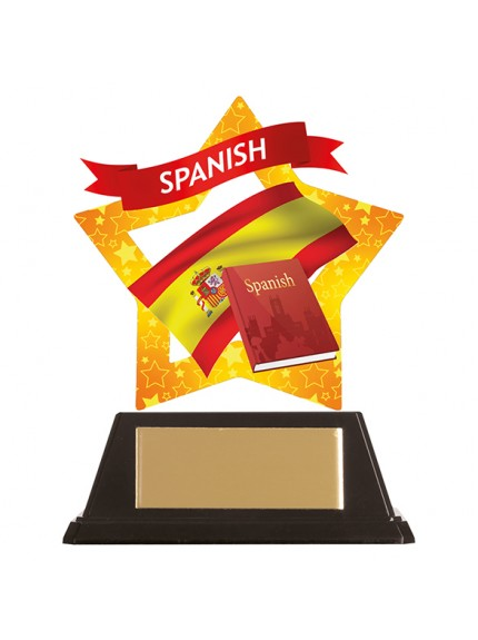 Mini-Star Spanish Acrylic Plaque 100mm