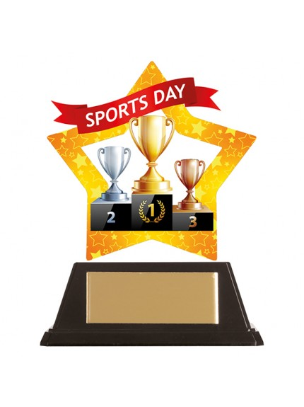 Mini-Star Sports Day Acrylic Plaque 100mm