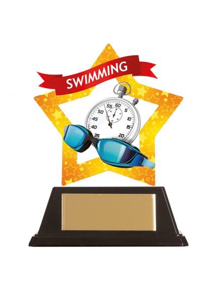 Mini-Star Swimming Acrylic Plaque 100mm