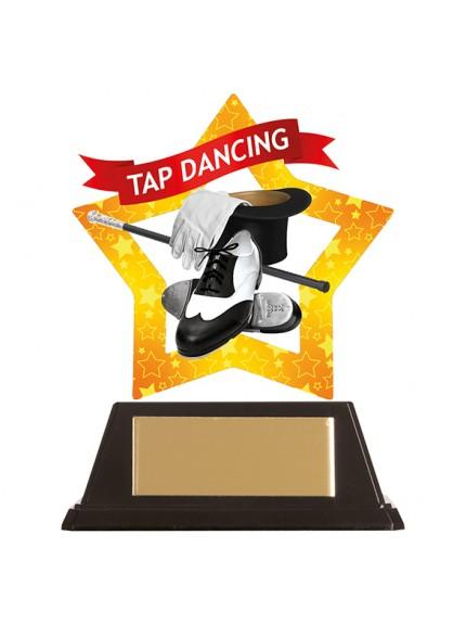 Mini-Star Tap Dancing Acrylic Plaque 100mm