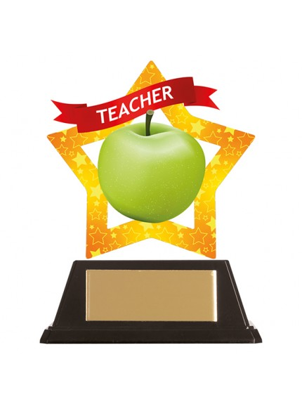 Mini-Star Teacher Acrylic Plaque 100mm