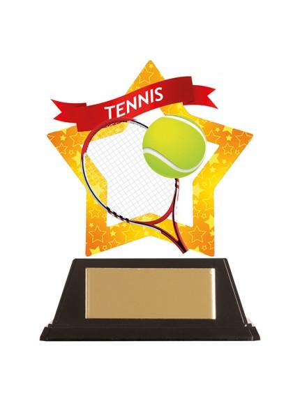 Mini-Star Tennis Acrylic Plaque 100mm