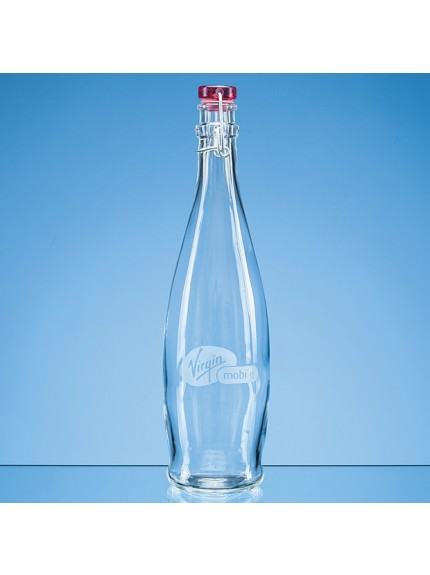 1ltr Red Cap Swing Top Bottle