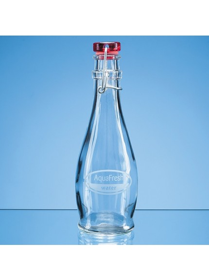 0.355ltr Red Cap Swing Top Bottle