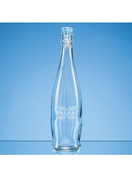 1ltr Blue Cap Swing Top Bottle