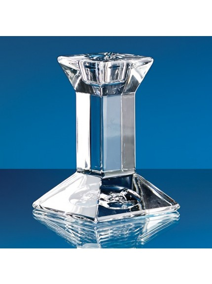 Lead Crystal Padova Candlestick Holder*