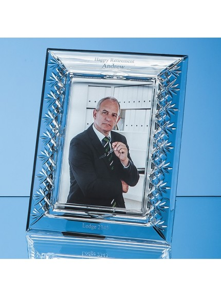 Lead Crystal Panelled Photo Frame