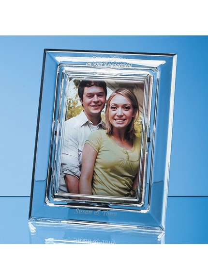 Lead Crystal Plain Photo Frame