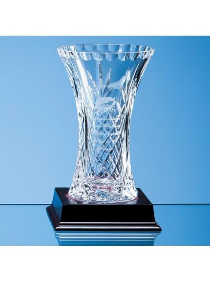 Lead Crystal Panelled Flared Vase