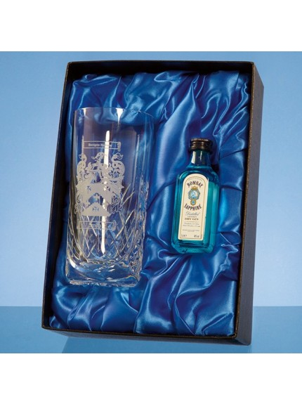 Blenheim High Ball Gift Set with a 5cl Miniature Bottle of Gin