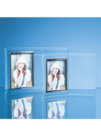 Bevelled Glass Crescent Frame fPortrait Photo