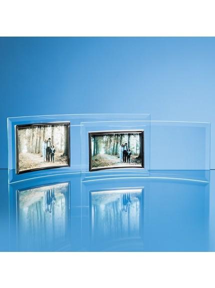 Bevelled Glass Crescent Frame for Landscape Photo