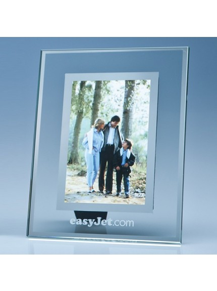 Clear Glass Frame with Mirror Inlay