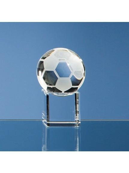 Optical Crystal Football on Clear Base