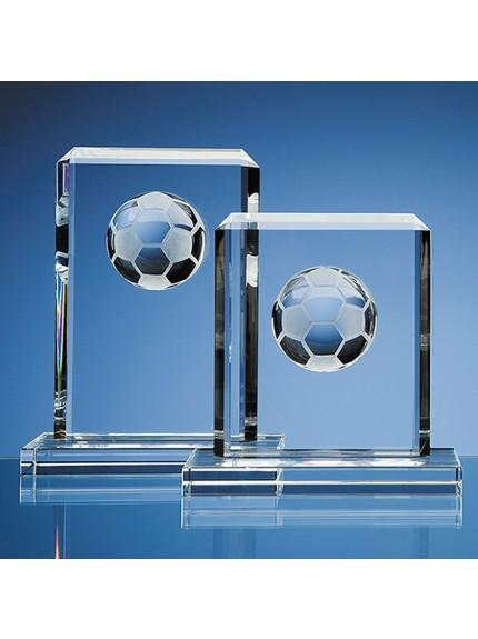 Optical Crystal Football Rectangle Award