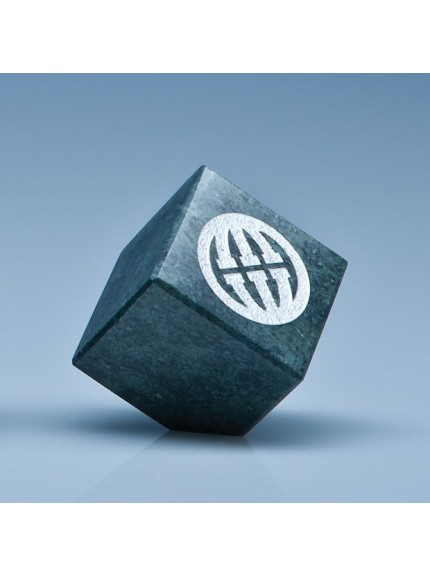 Green Marble Bevel Edged Cube*