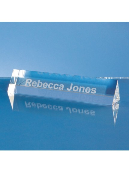 Optical Crystal Name Plaque