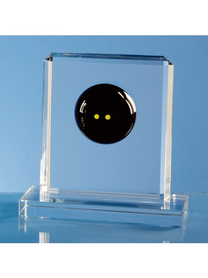 Optical Crystal Squash Ball Rectangle Award