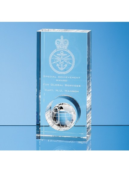 Optical Crystal Globe in the Hole Award