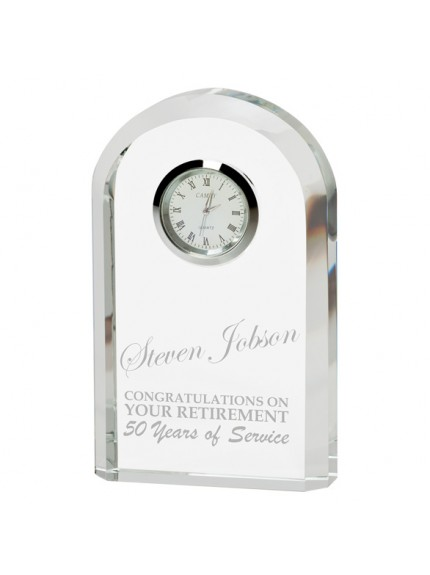 Eternity Crystal Clock 130mm