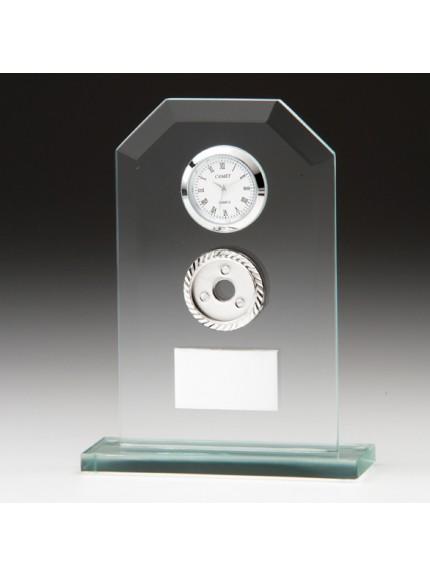 Vitoria Jade Crystal Clock