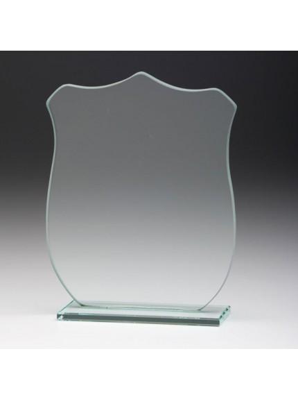 Jade Glass Titan Shield Plaque Award