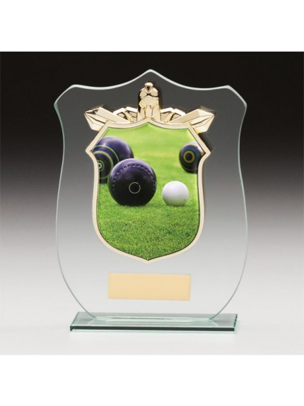 Titans Glass Lawn Bowls Shield