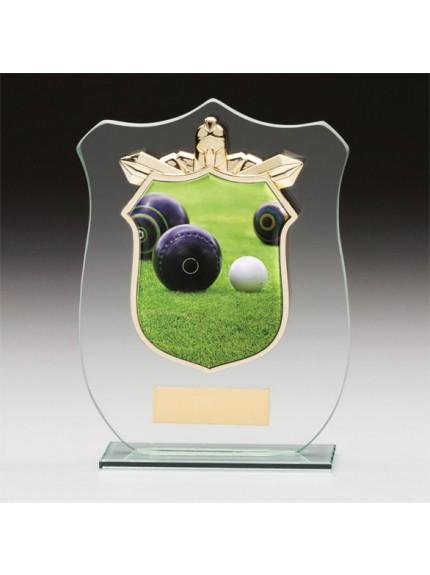 Titans Glass Lawn Bowls Shield
