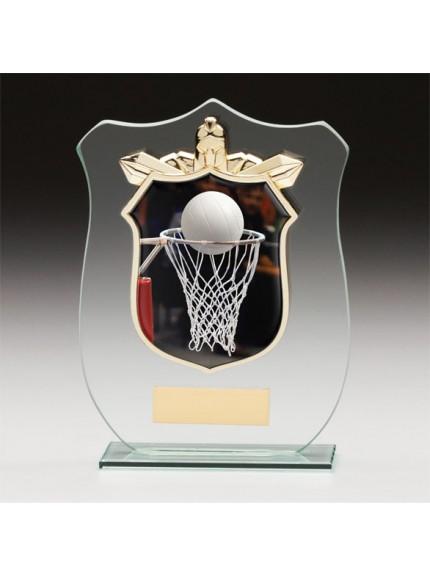 Titans Glass Netball Shield
