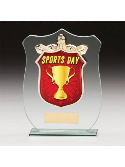 Titans Glass Schools Sports Day Shield