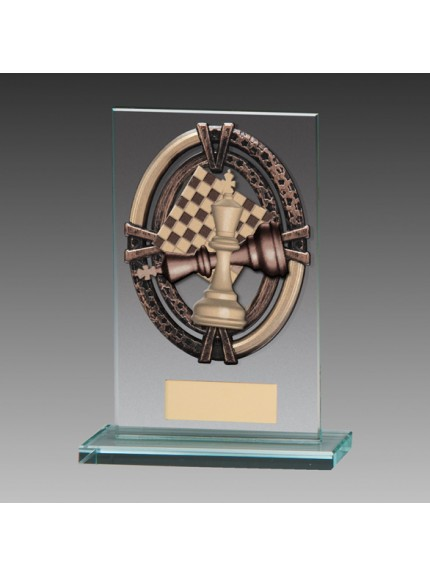 Maverick Legacy Glass Award Chess Bronze