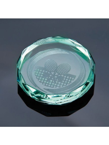 Jade Gaia Glass Paperweight Jade Award