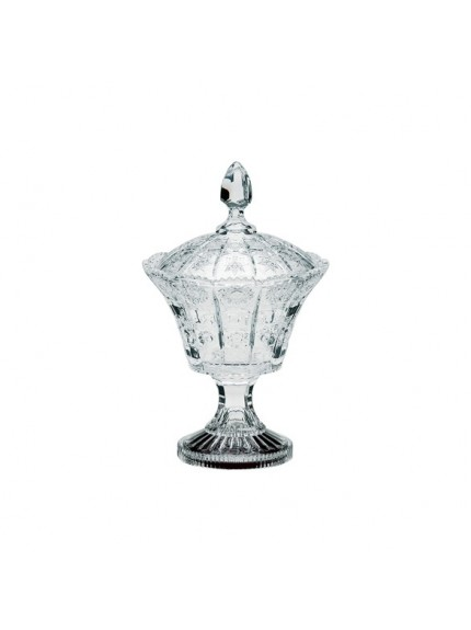 Lindisfarne St Benedict Crystal Vase & Lid - Available in 2 Sizes