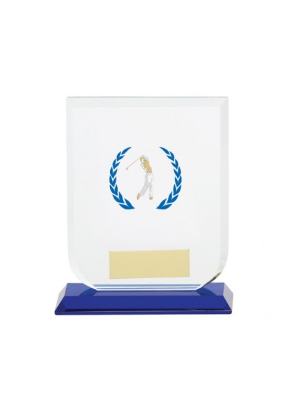 Gladiator Male Golf Glass Award - Available in 3 Sizes