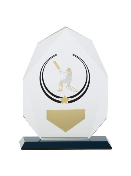 Glacier Cricket Glass Award - Available in 2 Sizes