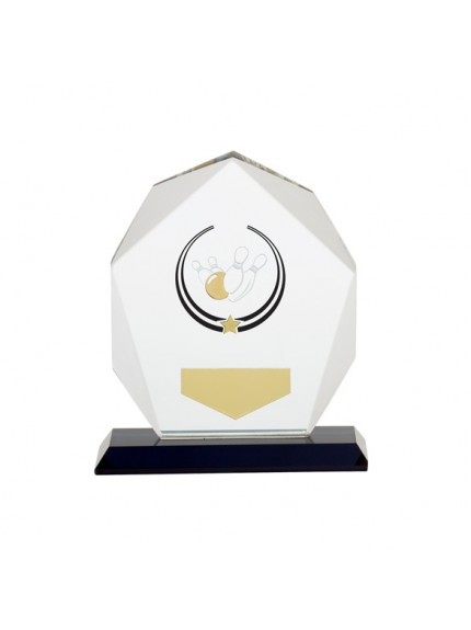 Glacier Ten Pin Glass Award - Available in 3 Sizes