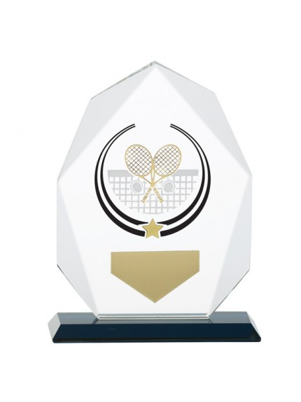 Glacier Tennis Glass Award - Available in 2 Sizes