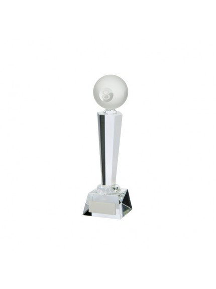 Interceptor Pool Crystal Award - Available in 3 Sizes
