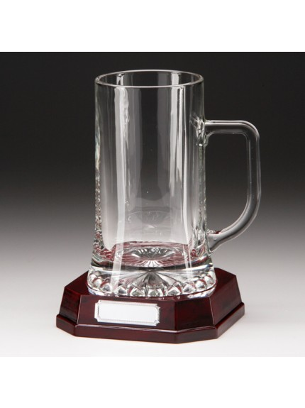 Lindisfarne St Aidan Glass Tankard 185mm
