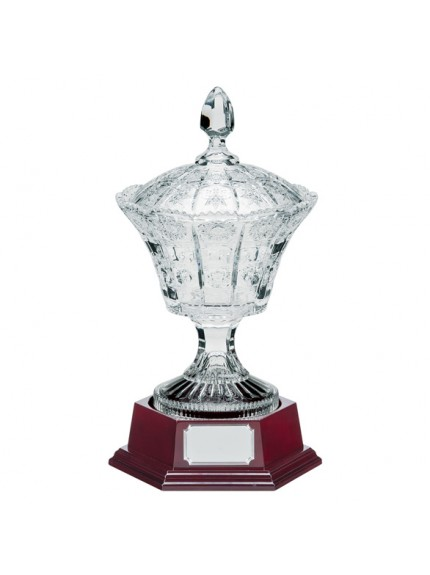 Lindisfarne St Benedict Crystal Vase, Lid & Base - Available in 2 Sizes