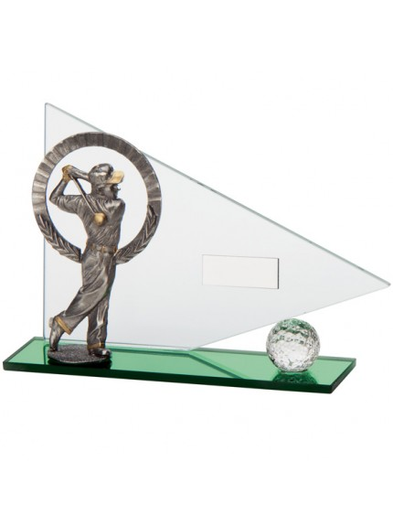 Match Play Golf Male Glass Award - Available in 2 Sizes