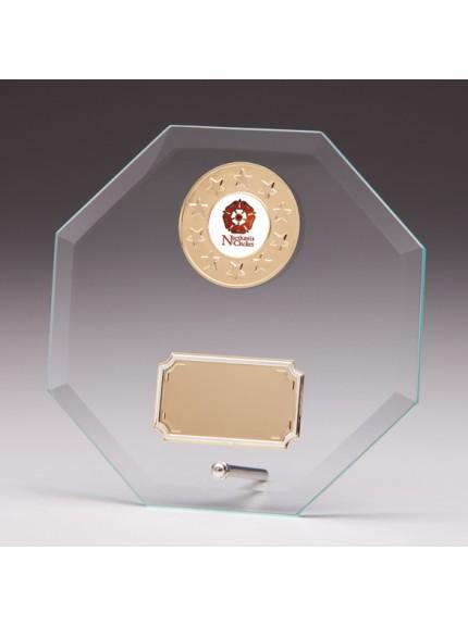 Jade Enterprise Glass Plaque