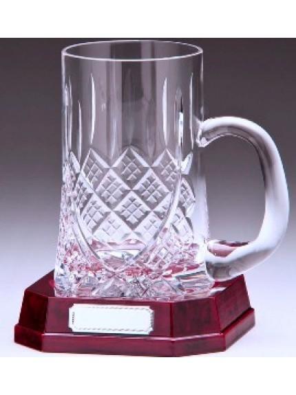 Lindisfarne St Bernica Crystal Tankard 170mm