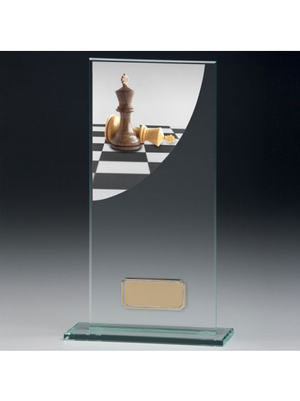 Chess Colour-Curve Jade Crystal Award