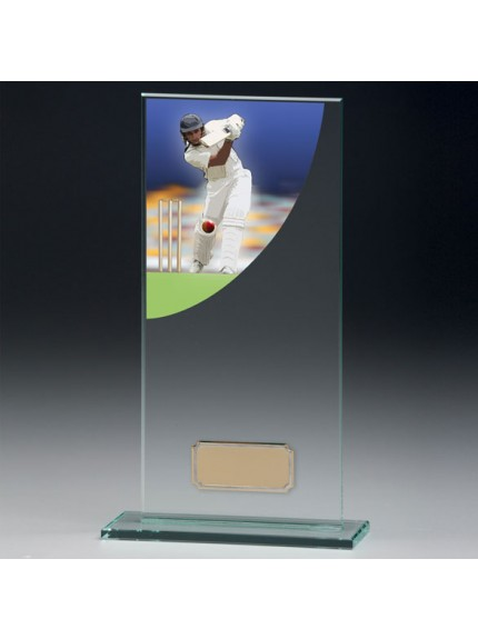 Cricket Colour-Curve Jade Crystal Award