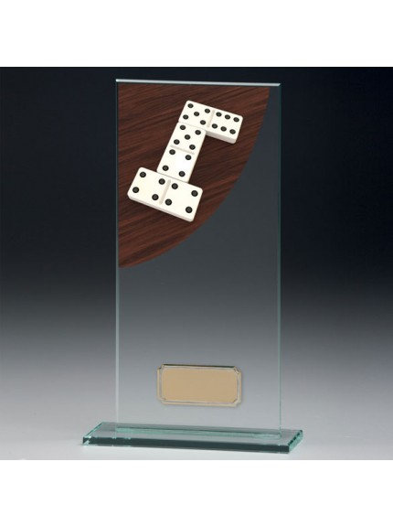 Dominoes Colour-Curve Jade Crystal Award